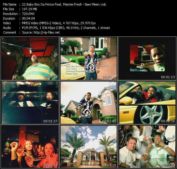 Baby Boy Da Prince Feat. Mannie Fresh video screenshot