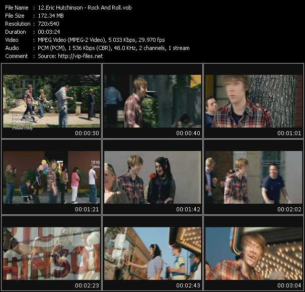 Eric Hutchinson video screenshot