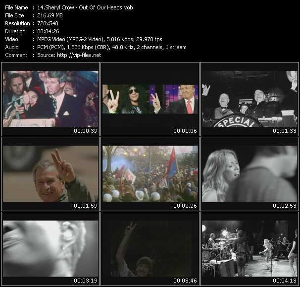 Sheryl Crow video screenshot