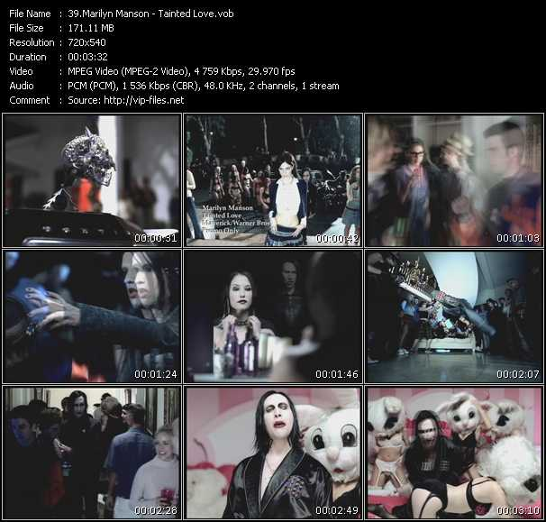 video Tainted Love screen