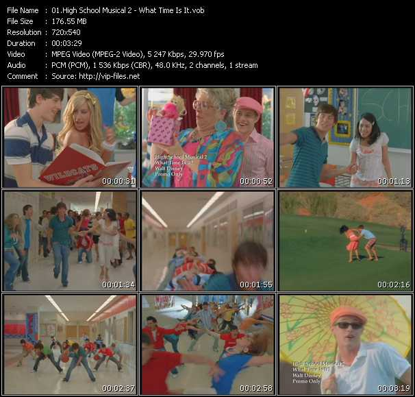 High School Musical 2 video screenshot