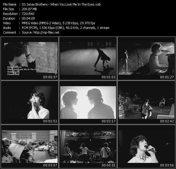 Jonas Brothers video screenshot