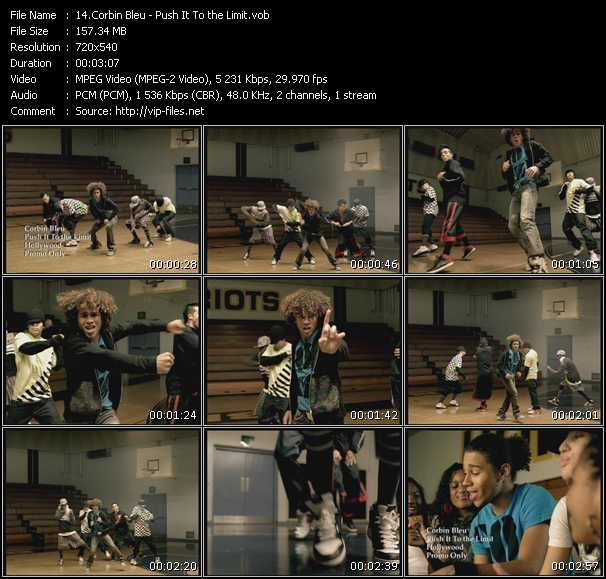 Corbin Bleu video screenshot