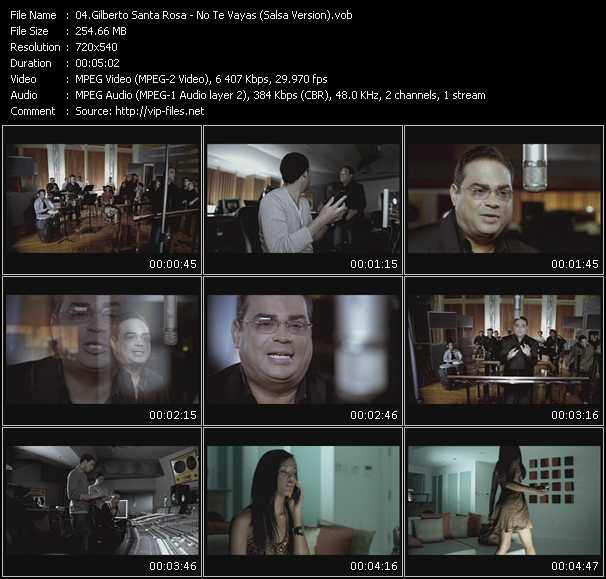 video No Te Vayas (Salsa Version) screen