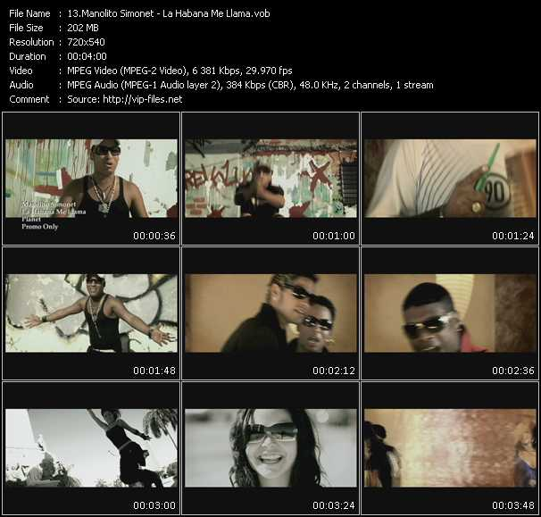Manolito Simonet video screenshot