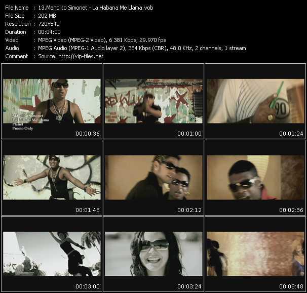Manolito Simonet video screenshot