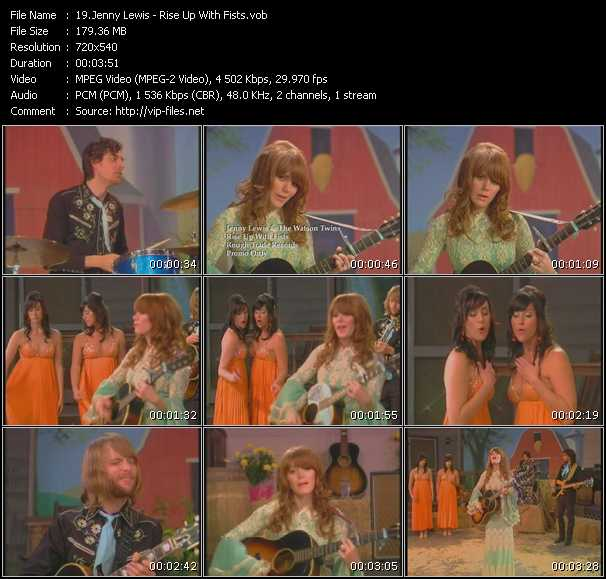 Jenny Lewis video screenshot