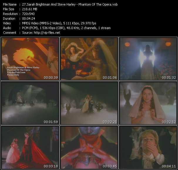 Sarah Brightman And Steve Harley video screenshot