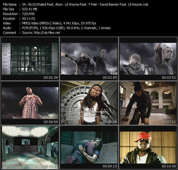 Dj Khaled Feat. Akon, Rick Ross, Plies, Trick Daddy, Lil' Boosie And Ace - Lil' Wayne Feat. T-Pain And Mack Maine - David Banner Feat. Lil' Wayne video screenshot