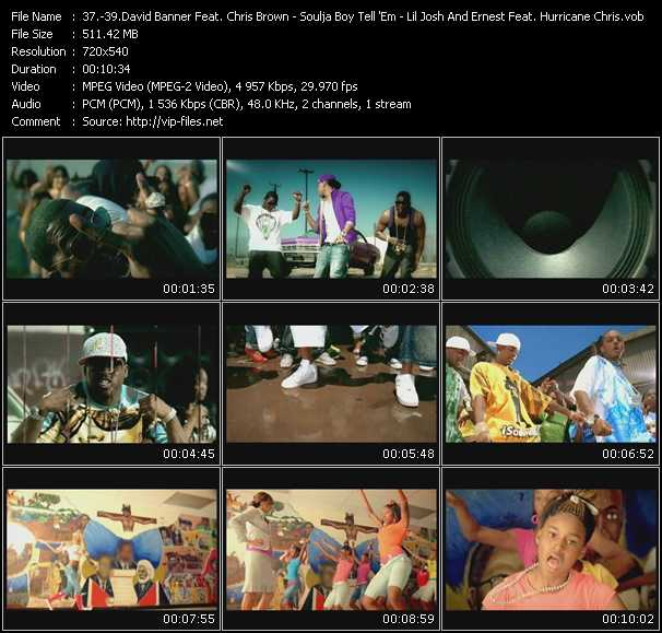 David Banner Feat. Chris Brown - Soulja Boy Tell 'Em - Lil' Josh And Ernest Feat. Hurricane Chris And Diamond video screenshot