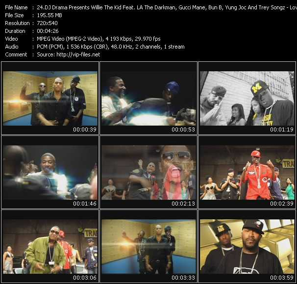 Dj Drama Presents Willie The Kid Feat. LA The Darkman, Gucci Mane, Bun B, Yung Joc And Trey Songz video screenshot