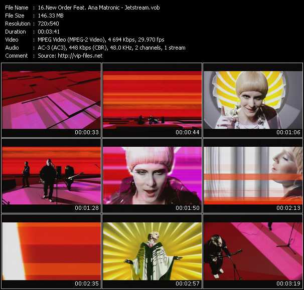 New Order Feat. Ana Matronic video screenshot