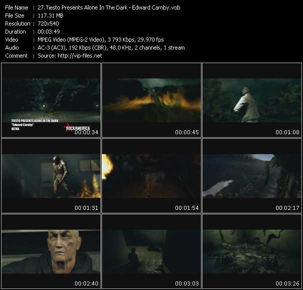 Tiesto Presents Alone In The Dark video screenshot