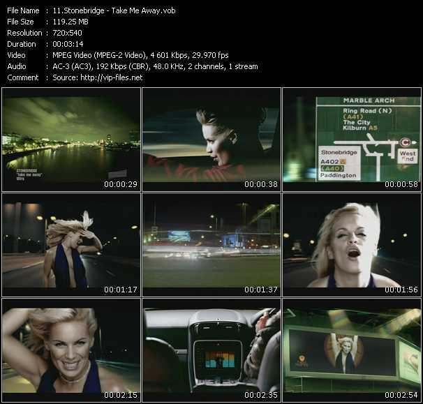 video Take Me Away screen