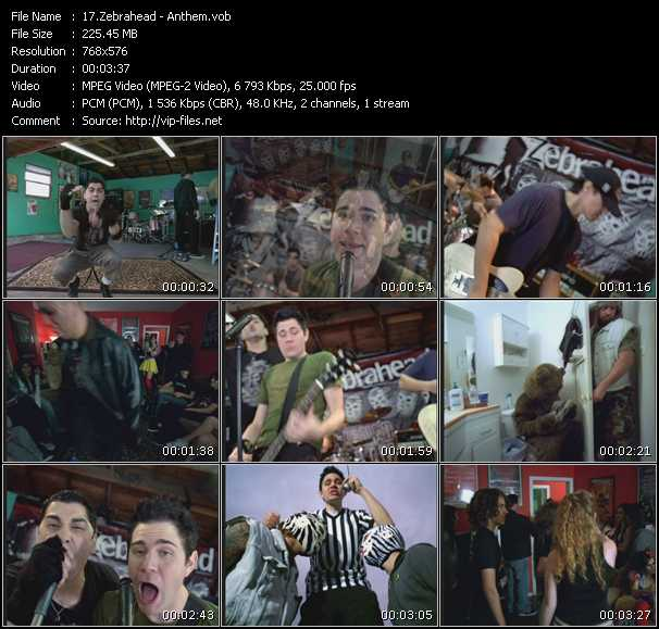 Zebrahead video screenshot