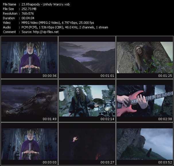 Rhapsody video screenshot