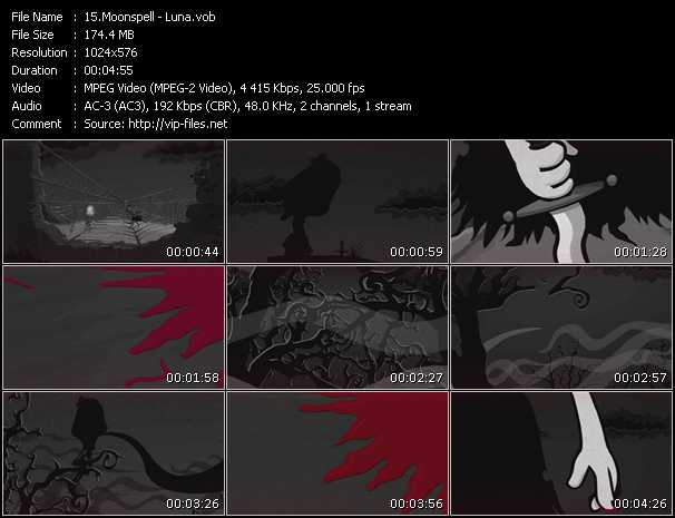 Moonspell video screenshot