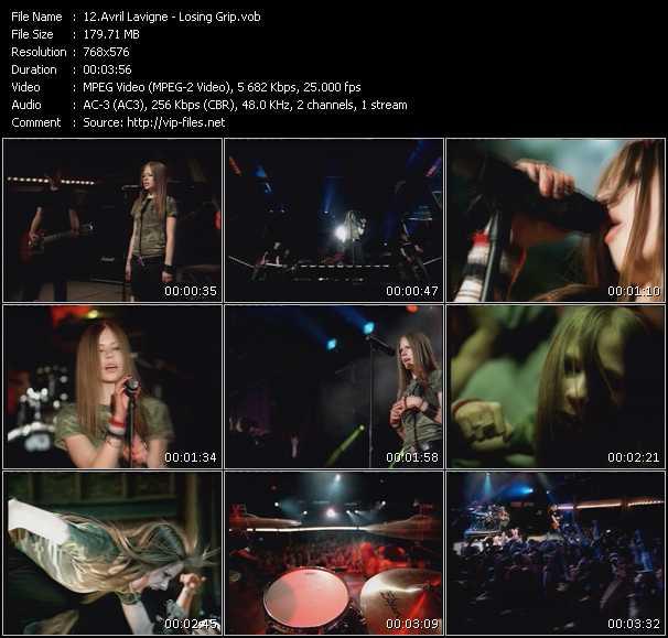 Avril Lavigne video screenshot