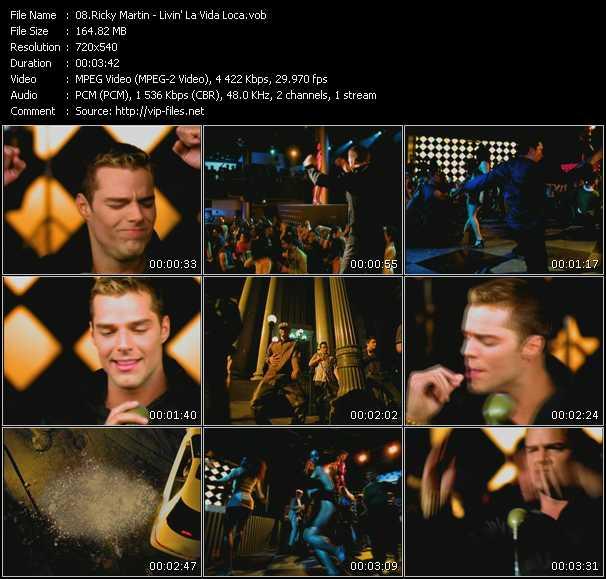 Ricky Martin video screenshot