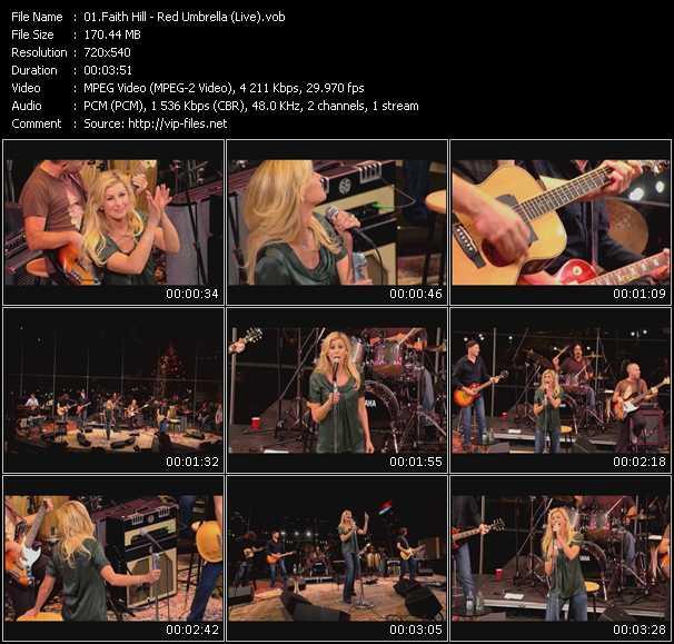 Faith Hill video screenshot