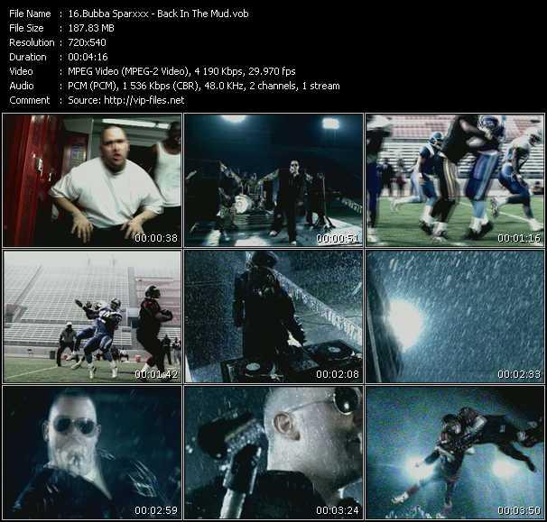 Bubba Sparxxx video screenshot