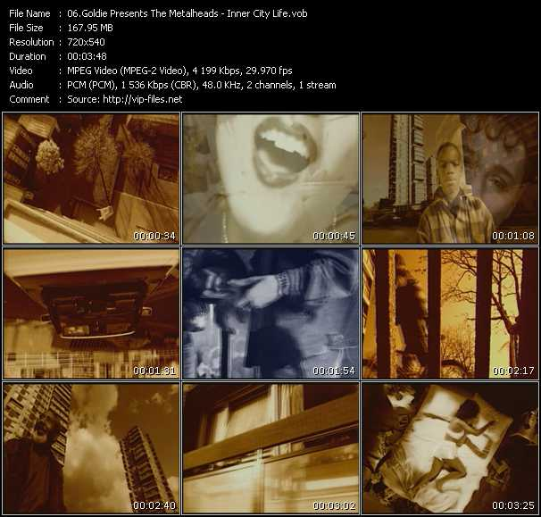 Goldie Presents The Metalheads video screenshot