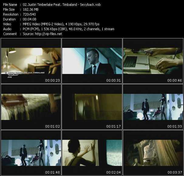 Justin Timberlake Feat. Timbaland video screenshot