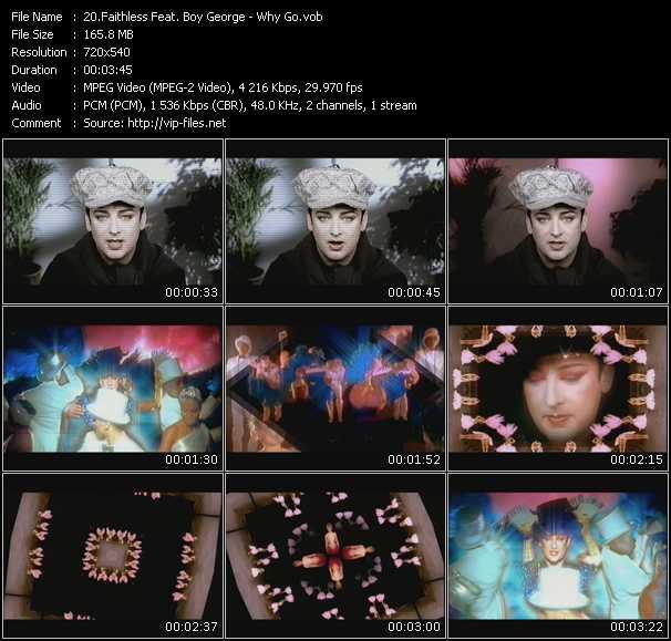 Faithless Feat. Boy George video screenshot
