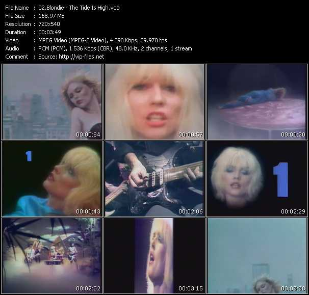 Blondie video screenshot