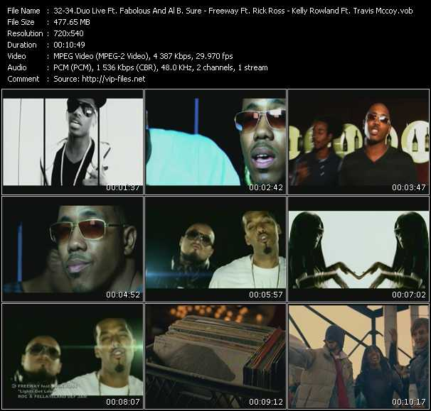 Duo Live Feat. Fabolous And Al B. Sure! - Freeway Feat. Rick Ross - Kelly Rowland Feat. Travis McCoy video screenshot