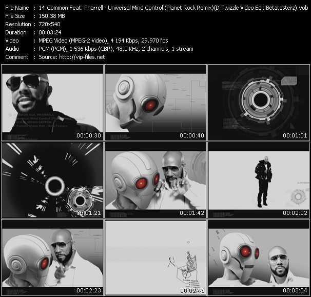video Universal Mind Control (Planet Rock Remix) (D-Twizzle Video Edit Betatesterz) screen