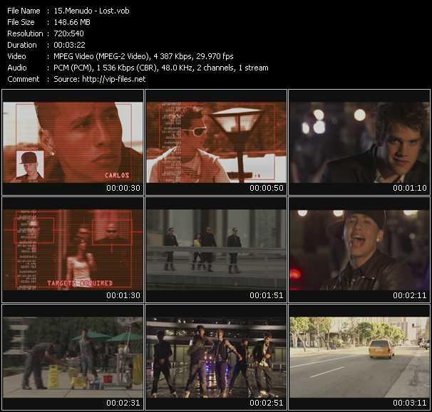 Menudo video screenshot