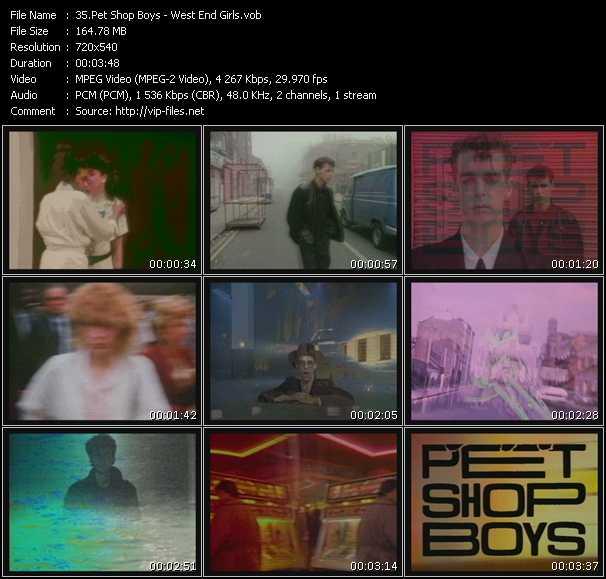 video West End Girls screen
