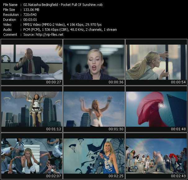video Pocket Full Of Sunshine screen
