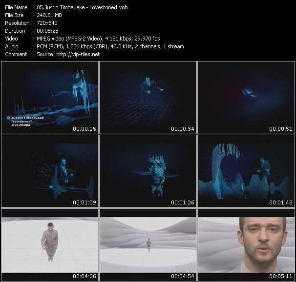 Justin Timberlake video screenshot