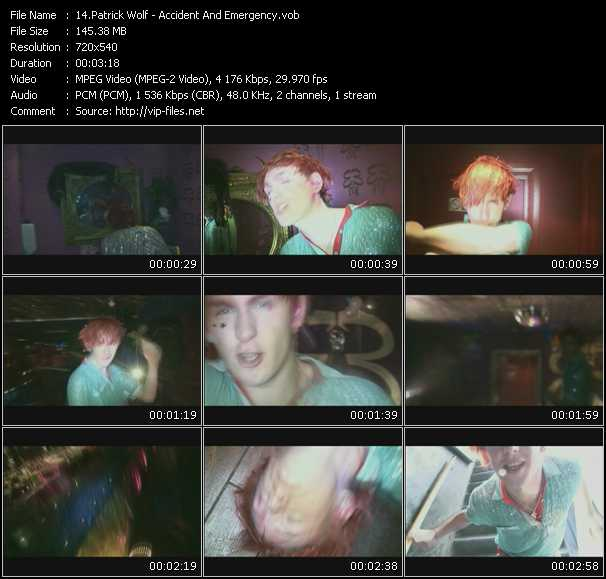 Patrick Wolf video screenshot