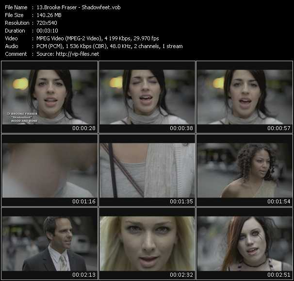 Brooke Fraser video screenshot