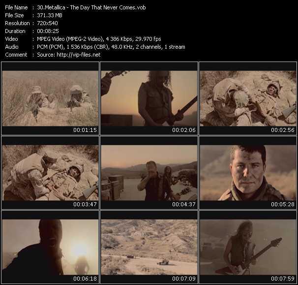 Metallica video screenshot