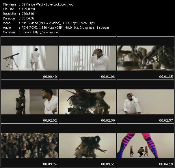 Kanye West video screenshot