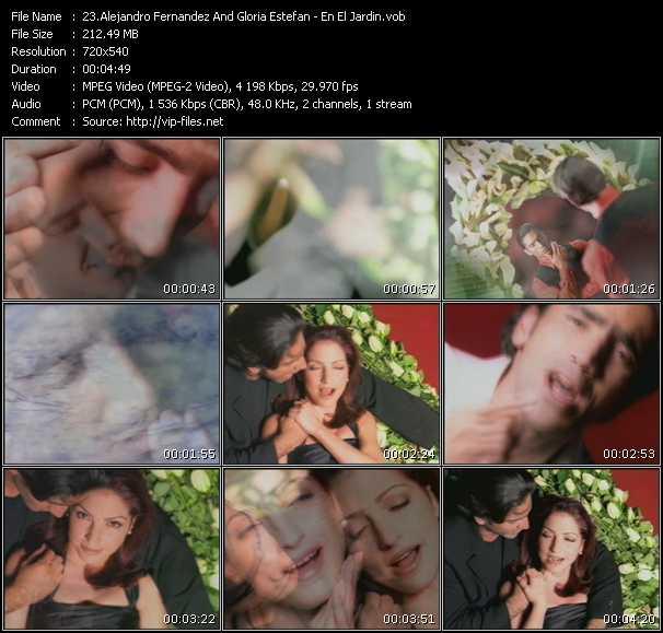 Alejandro Fernandez And Gloria Estefan video screenshot