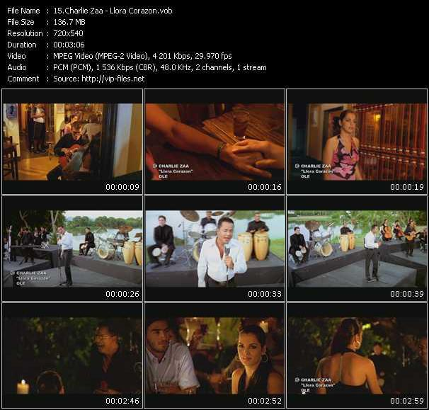 Charlie Zaa video screenshot