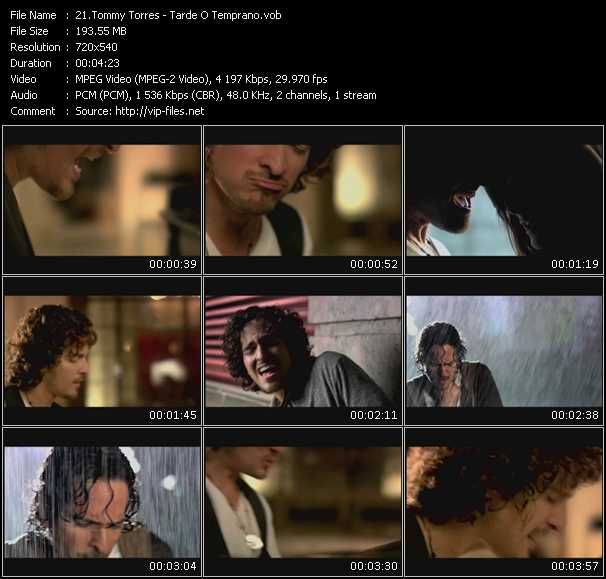 Tommy Torres video screenshot