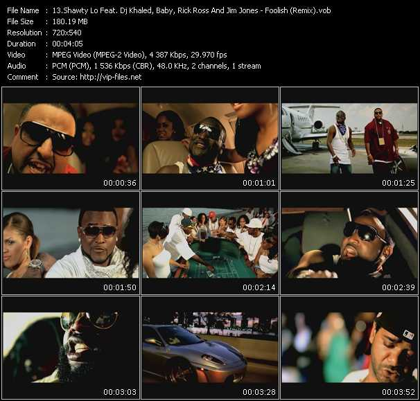 Shawty Lo Feat. DJ Khaled, Baby Aka Birdman, Rick Ross And Jim Jones video screenshot