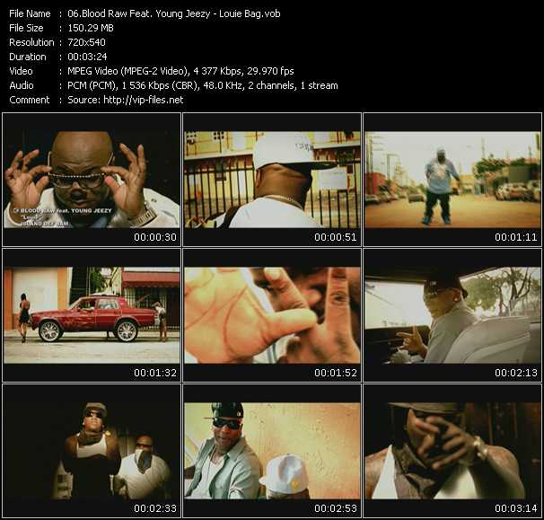 Blood Raw Feat. Young Jeezy video screenshot