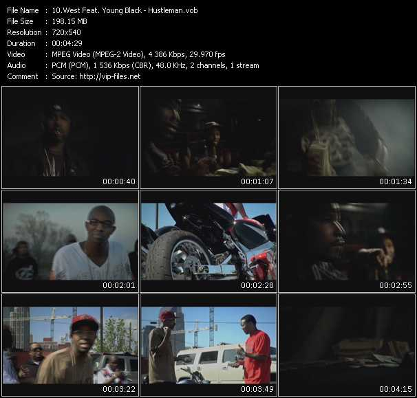 West Feat. Young Black video screenshot