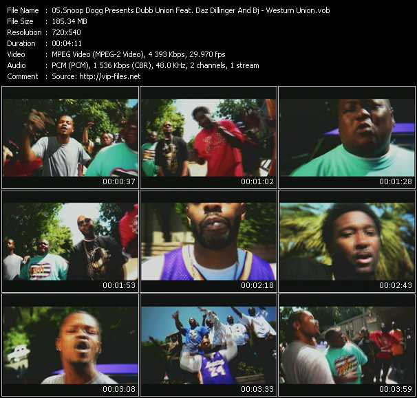 Snoop Dogg Presents Dubb Union Feat. Daz Dillinger And Bj video screenshot