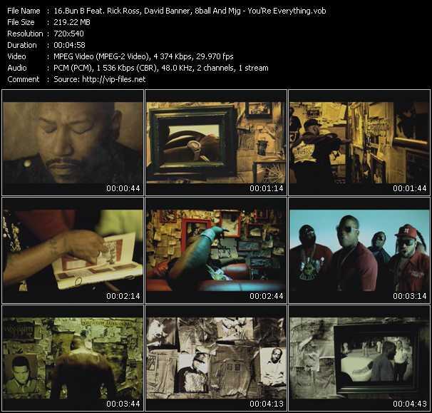 Bun B Feat. Rick Ross, David Banner, 8Ball (Eightball) And MJG video screenshot