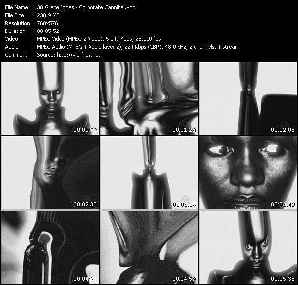 Grace Jones video screenshot