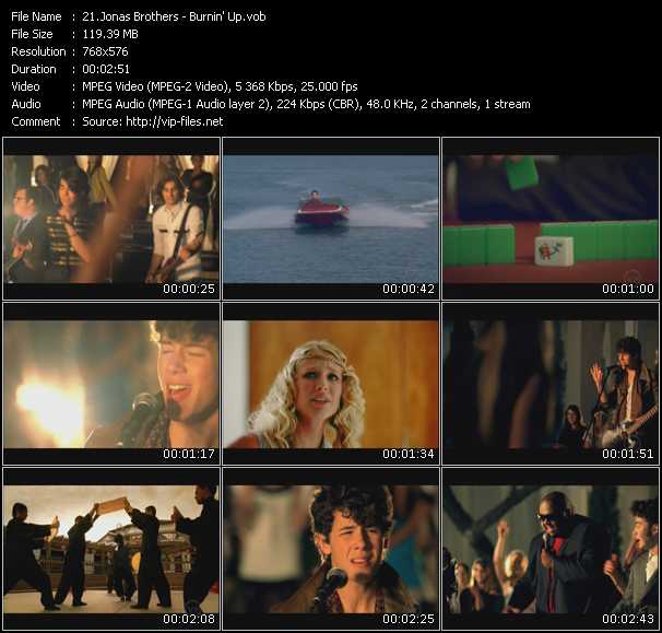 Jonas Brothers video screenshot
