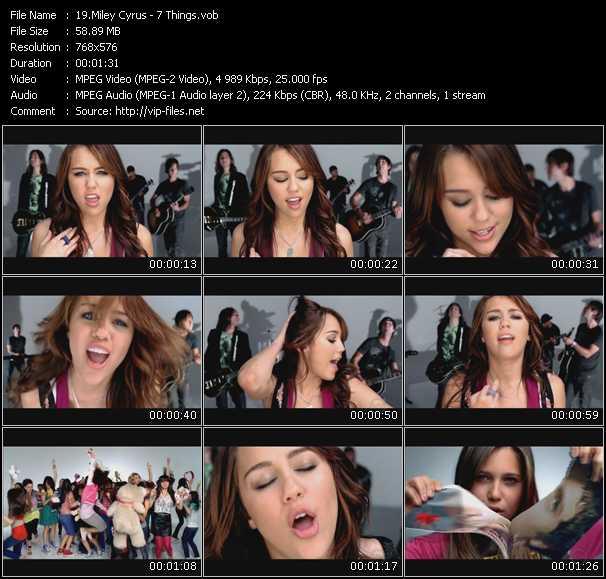 video 7 Things screen